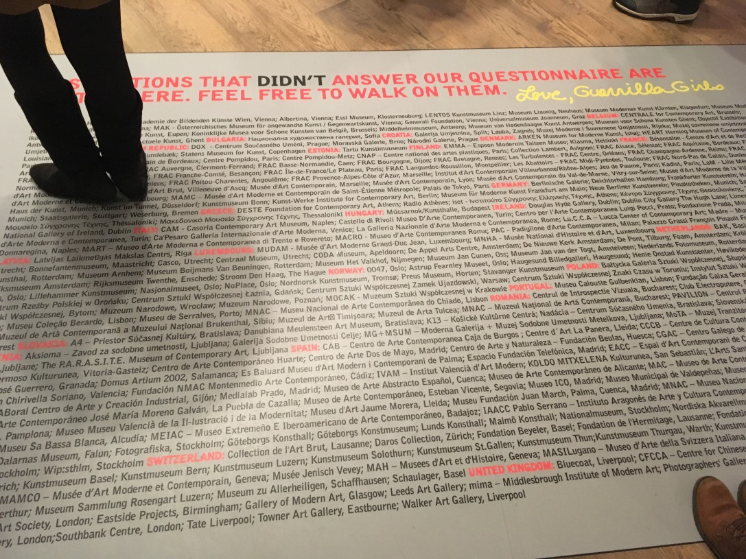 Guerrilla Girls Exhibition